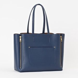 Handbags - Sold ** Ann Taylor Large Signature Tote Navy Blue